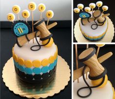 Kendama cake. D would love this 9th Birthday Parties, Teen Birthday, Birthday Cakes, Cake Cookies, Cupcake Cakes, Cupcakes, Party Central, Lightbulb, Brain Teasers