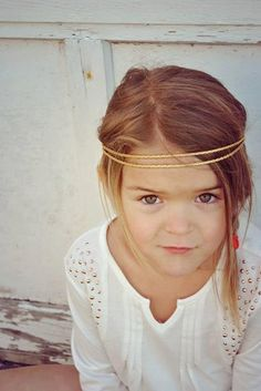 Hey, I found this really awesome Etsy listing at https://www.etsy.com/listing/186778464/gold-halo-girls-double-strand-braided