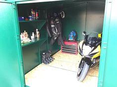 Newly built Motorbike Storage Garage by an Asgard Customer. - http://ift.tt/1HQJd81
