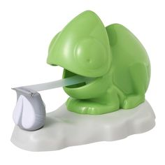 Gotta catch that fly but my tongue is stuck! Awww.. this is soo cute! Perfect for home or office or for the kids!  Scotch Chameleon Dispenser with Scotch Magic Tape  350 Inches, 1 Roll, 1 Dispenser (C34-Chameleon).