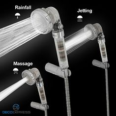Increase Pressure New-Black Innovative Shower Head Lonic Handheld
