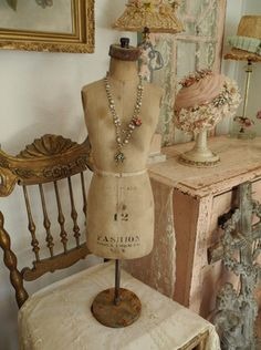 Shabby Rusty Old Antique Half Scale Dress Form with Iron Stand | eBay