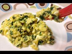 Receta ideal para niños de 1 año y mayores Ver instrucciones paso a paso en www.hechoxmama.com La receta de huevo con espinaca y queso es una deliciosa y sal...