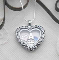 Baby Memorial Necklace, Baby Memorial Heart Locket, Letter Birthstone, Personalized Baby Memorial Necklace, With Me Always, Baby Feet Locket
