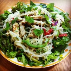 Thai Green Chicken Salad - Thai Curry in salad form!