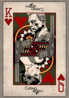 """Casino Royale"" by Darren Tibbles. More fan art of Bond. Vintage Cartoon, Retro Vintage, Skyfall, Fantasy Anime, Tachisme, Bond Cars, James Bond Movies, James Bond Movie Posters, James Bond Party"