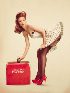 pin up girl! Would be a cool piece of art