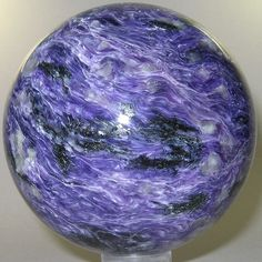 Charoite (polished sphere) / Russia   I have one that looks like this one/