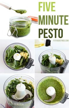 5 Minute #Pesto- an easy #recipe that you can whip up in five! #FitFluential