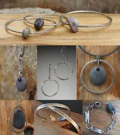 Circle Stone Designs, beach rocks from Maine.... love the necklaces!