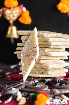 Popular Indian sweet, Kaju Katli is a fudge made out of cashews. The homemade version is so much better than the store bought!