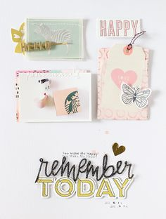 PHOTO + PAPER + STAMP = CRAFTTIME!!!: LAYOUT - REMEMBER TODAY