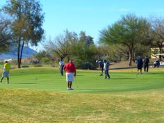 On the driving range at The Views Golf Club at Oro Valley