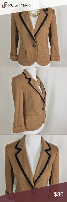 Catherine Malandrino Blazer Beautiful Catherine Malandrino blazer with a gorgeous color and design. Great pre owned condition. No stains. Has a tiny pin sized hole on the left back cuff(See last pic).  Size: Small Please refer to measurements to ensure proper fit! Pit to pit: 18 Length: 25 Shoulder to shoulder: 14.5 Catherine Malandrino Jackets & Coats Blazers
