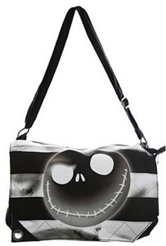 CHIQ | THE NIGHTMARE BEFORE CHRISTMAS JACK NEGATIVE MESSENGER BAG Hot Topic