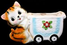 Vintage Kitsch Baby Circus Tiger Ceramic by gifthorsevintage, $28.00