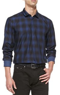 Hugo Boss - Shaded Check Sport Shirt: Since we often opt for dark wash jeans for a casual evening out, we know the importance of good shirt options to go with them. With the importance of plaid this season (and really, most seasons), this is just what you need.