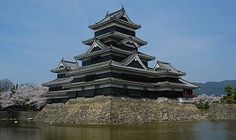 """Matsumoto Castle (Matsumotojo) is one of the most complete and beautiful among Japan's original castles. It is also a good example of a so called """"hirajiro"""", a castle built on the plain rather than on a hill or mountain."""