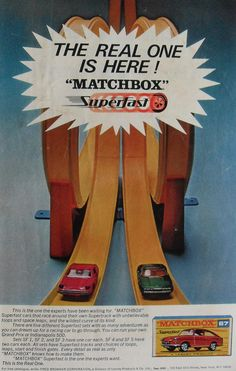 1967 SUPERFAST MATCHBOX CAR Toy Kids Vintage Advertisement 1960s by Christian Montone, via Flickr