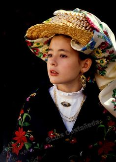 Girl in Traditional Outfit, Avila, Spain, by Luis Castañeda
