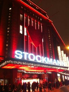 Stockmann department store in Helsinki, Finland Finnish Language, Visit Helsinki, Finland Travel, English Village, Christmas Markets, Interesting History, Beautiful Buildings, Best Cities, Department Store