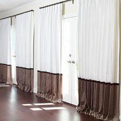 White Linen with Sand Border and Velvet Ribbon Detail