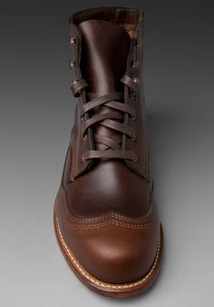 1000 Mile Wolverine Addison Wingtip Boots in Brown