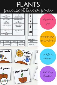 Science in preschool is fun! Teach children all about plants in this fun spring time thematic unit. Lesson plans and printable activities included. Perfect for preschool and pre-k! Preschool Writing, Preschool Lesson Plans, Writing Activities, Teaching Kids, Kids Learning, Summer Lesson, Early Reading, Thematic Units, Spring Theme