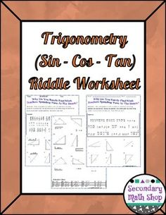 1000 images about trigonometry on pinterest worksheets riddles and calculus. Black Bedroom Furniture Sets. Home Design Ideas