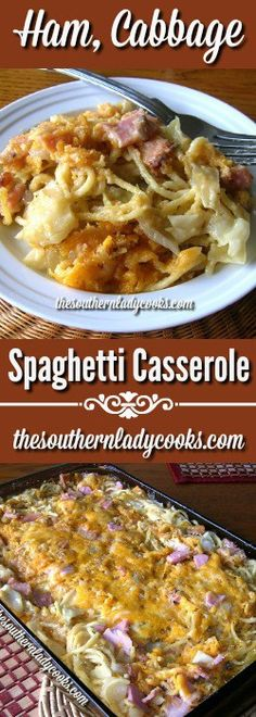 This Cabbage, Ham Spaghetti Casserole makes a lot and is great served with a green vegetable and some cornbread muffins.It is comfort food at its best.