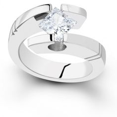 Contemporary tension set Wedding Rings for Women | Tension Engagement Ring Setting by Sareen Jewelry TSLA114