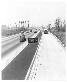 (1954) Hollywood Freeway at Vermont