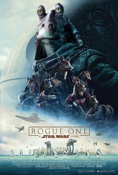 Poster by Olly Gibbs CAN THIS BE A THING? Little voice: but I like the gungans....