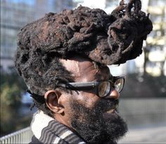 Ew. It looks like someone stuck a burnt turd on his head. seriously...wtf is that?!?