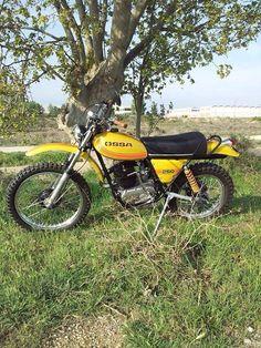 Ossa Enduro Vintage, Vintage Motorcycles, Enduro Motorcycle, Motocross Bikes, Valentino Rossi 46, Dirtbikes, Trail Riding, Scrambler, Spanish
