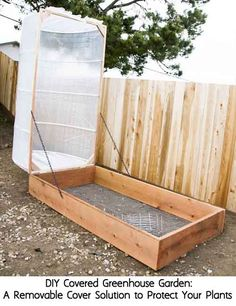 DIY Covered Greenhouse Garden:A Removable Cover Solution to Protect Your Plants