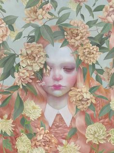 ⊰ Posing with Posies ⊱ paintings of women and flowers - Hsiao Ron Cheng