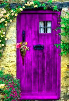 What's through the purple door? • original source not found