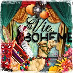 La Vie Boheme from glitterbug for Hidden Vintage Studios at Deviant Scrap