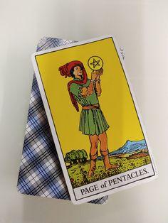 Meaning of Rider Waite Tarot By Johannes Fiebig & Evelin Burger Page Of Pentacles, Rider Waite Tarot, Palmistry, Tarot Decks, Numerology, Discovery, Astrology, Angels, Adventure