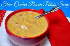 Slow Cooker Bacon Potato Soup by Princess Pinky Girl