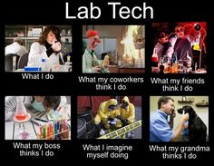 "Funny Science Jokes: Laughs for Scientists - Lab tech humor. Funny I'll soon say I've been both types of ""lab"" techs. Laboratory Humor, Medical Laboratory Scientist, Lab Humor, Medizinisches Labor, Funny Science Jokes, Biology Jokes, Science Cartoons, Medical Lab Technician, Med Lab"