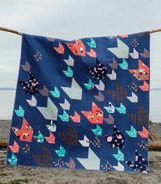 Go Figure - love the colors and variety of sizes - then I look down to see Jaybird Quilts.  She always knocks quilts out of the park!  Love it! Beyond Neutral Book Tour Stop + Giveaway! | Jaybird Quilts