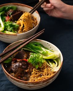 Taiwanese Beef Noodle Soup - Marion's Kitchen - Taiwanese Beef Noodle Soup – Marion's Kitchen - Chinese Bbq Pork, Asian Beef, Chinese Food, Korean Food, Beef Noodle Soup, Beef And Noodles, Kitchen Recipes, Cooking Recipes, Beef Chuck Steaks