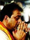 Thank You, God: Sanjay offers prayers at the Siddhivinayak temple a few weeks after the judgement