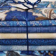 """Kit de tecidos """"Blue Gardenia"""""""