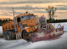 Pete Snowplow by Stuart Swartz Nascar Trucks, Peterbilt Trucks, Chevy Trucks, Tow Truck, Cool Trucks, Big Trucks, Black Rhino Wheels, Gmc Motorhome, Truck Transport