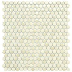 Cosmo Penny Round Almond 11-1/4 in. x 12 in. Porcelain Wall Tile-FSHCPRAL at The Home Depot