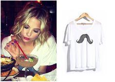 Shop Your TV: Celebrity Style: Ashley Benson's Moustache Shirt