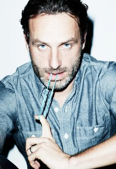 When he's sucking on a rubberband. | 56 Situations Where Andrew Lincoln Looks Absolutely Charming